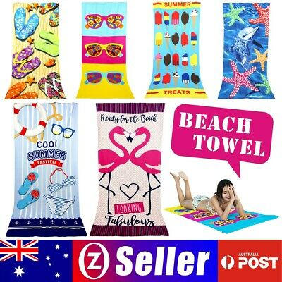 AU9.99 • Buy Microfiber Towel Gym Sport Footy Travel Camping Swimming Beach Bath Microfibre