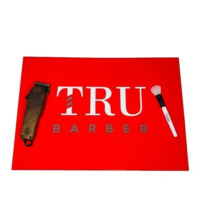 $24.99 • Buy Barber Mat, Barber Station Mat,trubarber Professional Mat, Anti Slip Red/WHITE