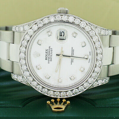 $ CDN15528.33 • Buy Rolex Datejust II 41mm SS Oyster Watch White MOP Diamond Dial & Bezel Box Papers