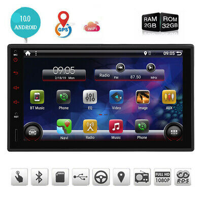 AU245.99 • Buy AU 7  Android 10.0 Double 2Din Car Radio Stereo Head Unit GPS NAV BT OBD2