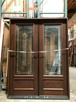$2995 • Buy Mahogany6ftX8ft Exterior Double Door Pre-hung&Finished, DMH8101-GL02