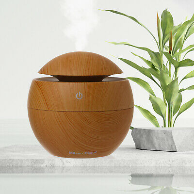 AU34.95 • Buy Milano Ultrasonic USB Diffuser With 10 Aroma Oils Humidifier LED Light 130ml