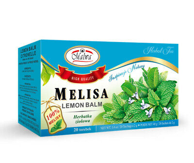 Malwa Melisa LEMON BALM Polish Herbal Tea Poland 20 Tea Bags US Seller • 4.40£