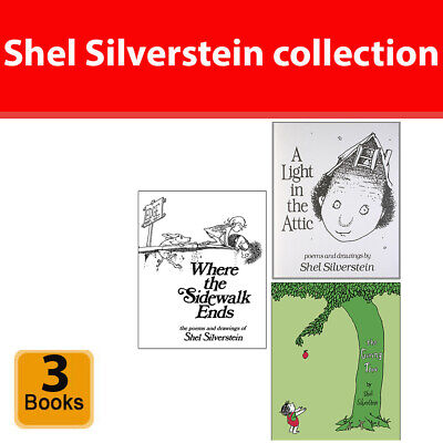 Shel Silverstein Collection 3 Books Set (Where The Sidewalk Ends,Giving Tree)  • 36.99£