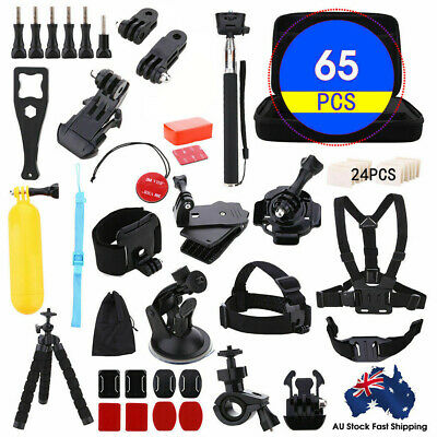 AU25.79 • Buy 65 Pcs Accessories Pack Case Chest Head Floating Monopod GoPro Hero 8 7 6 5 4 AU