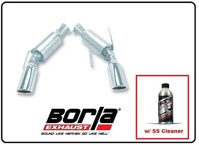 $534.98 • Buy Borla Axle-Back Exhaust S-Type W/SS Cleaner For 05-09 Mustang GT # 11750