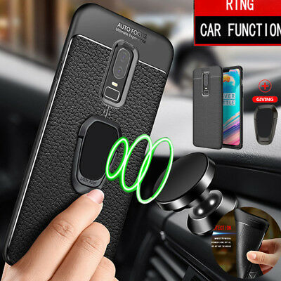AU7.96 • Buy For OnePlus 8 7 Pro 6T 6 5T Soft Leather Pattern Case Cover+Magnetic Bracket