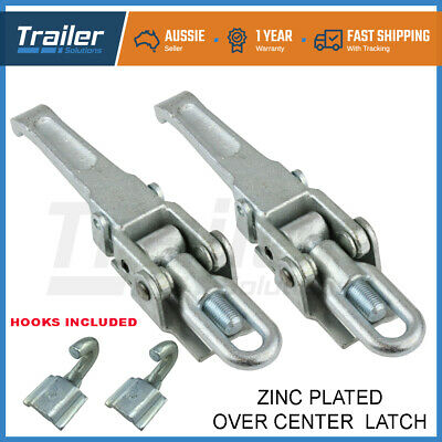 AU44.50 • Buy X2 Heavy Duty Over Centre Fastener Lock Latch (Weld On) Trailer Tray Ute Camper