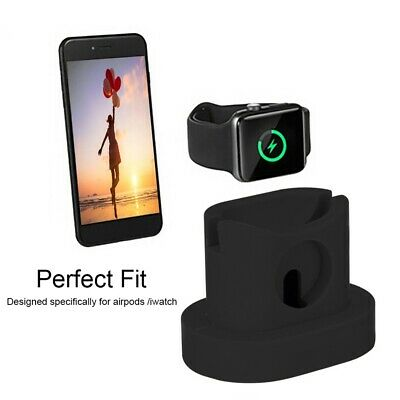 $ CDN4.97 • Buy 3 In 1 Silicone Charger Dock Stand For Apple Watch Airpods IPhone Series New