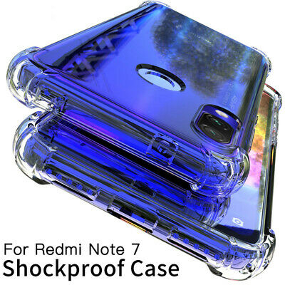 For Xiaomi Redmi Note 7 8 Pro Shockproof Clear Case Cover Protective Silicone • 1.70$