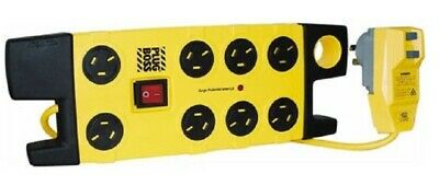 AU314.95 • Buy HPM PLUGBOSS POWERBOARD 8-Outlet RCD-Protected 3.1m Lead YELLOW *Aust Brand