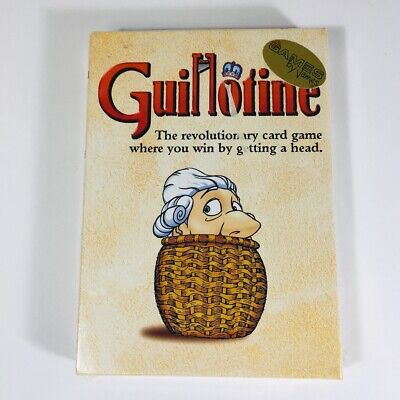 Guillotine Card Game Win By Getting A Head Paul Peterson Wizards New Sealed 1998 • 22.49$