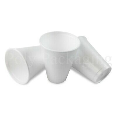 100 X SMALL 7oz Polystyrene Insulated Foam Cups Disposable Poly Tea/Coffee • 6.85£