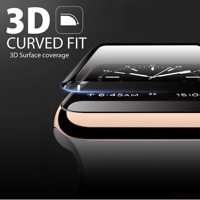 $ CDN2.67 • Buy For Apple Watch Series 1 2 3 4 3D Full Cover Tempered Glass Screen Protector Ys