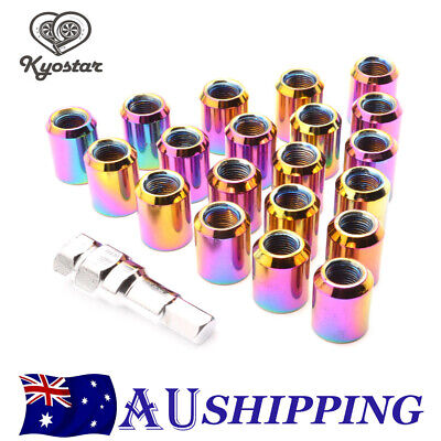 AU24.38 • Buy M12x1.25 Neo Chrome Inner Hex Rounded Tuner Steel Wheel Lug Nuts For Nissan 20PC