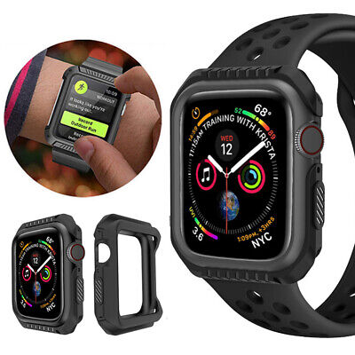 $ CDN4.72 • Buy For Apple Watch Series 4 3 2 1 Silicone Bumper Protective Case Cover 42/40/44mm