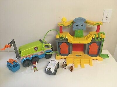 $74.80 • Buy PAW Patrol Lot Of Jungle Monkey Temple With Tracker & Terrain Playsets