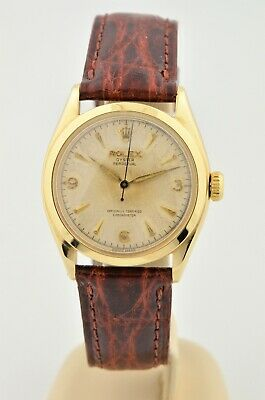 $ CDN4192.97 • Buy 1951 Vintage Rolex Oyster Perpetual Bubble Back 14k Yellow Gold Watch 6084