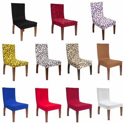 AU18.49 • Buy Dining Room Chair Covers Wedding Banquet Seat Cover Stretch Polyester Slipcovers