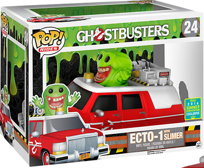 FUNKO POP! Ghostbusters Slimer With Red Ecto-1 2016 Summer Convention Exclusive • 37.24£