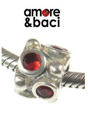 £18.99 • Buy Genuine AMORE & BACI 925 Sterling Silver RED CZ Charm Bead