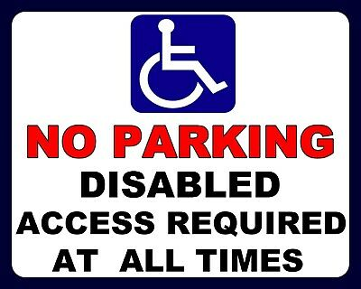 £4.99 • Buy No Parking Disabled Access Required At All Times Car Park Metal Tin Sign 1118