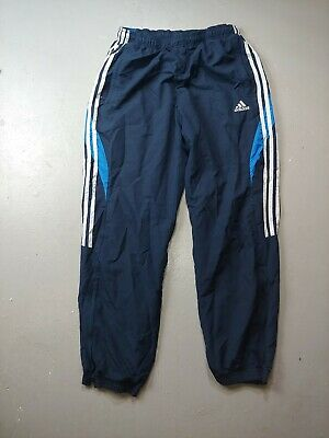 $ CDN27.99 • Buy Adidas Windbreaker Track Pants Mesh Lined Size Medium Trefoil Navy Blue