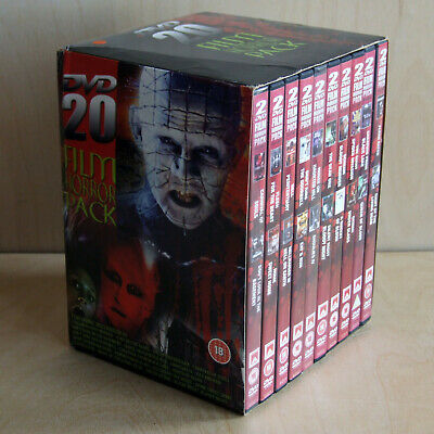 20 Film Horror Pack Volume 1 (DVD PAL All Regions 10 Double Sided Discs) • 28.99£