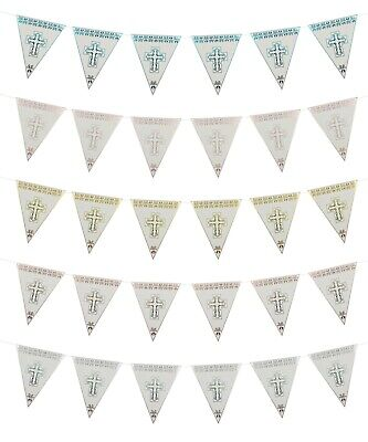 8 FLAG First Holy Communion Bunting Garland Party Ware Banner Decorations • 3.99£