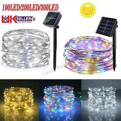 200LED Solar String Lights Waterproof Copper Wire Fairy Christmas Garden Outdoor • 9.11£