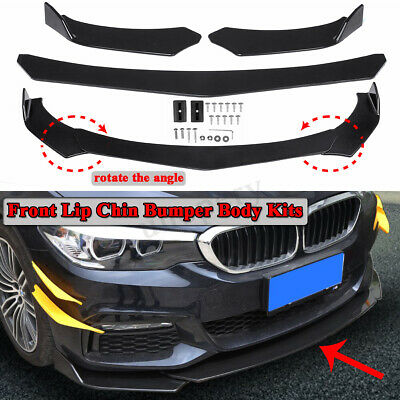 $ CDN48.84 • Buy Universal Front Bumper Lip Body Kit Spoiler For Honda Civic BMW Benz Mazda GMC