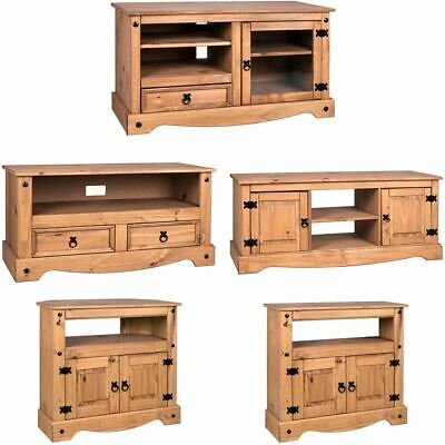 £69.89 • Buy Corona TV Unit Entertainment Cabinet Display Storage Stand Solid Waxed Pine