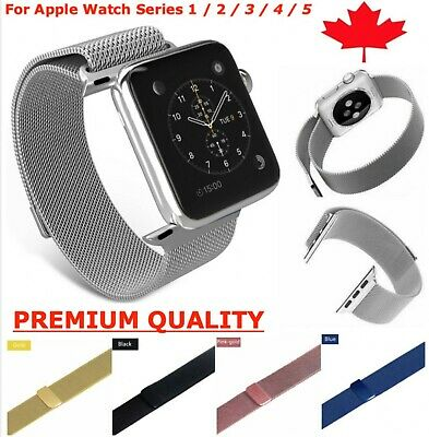 $ CDN10.95 • Buy Milanese Stainless Loop Band Magnetic Strap For Apple Watch Series 1 2 3 4 5