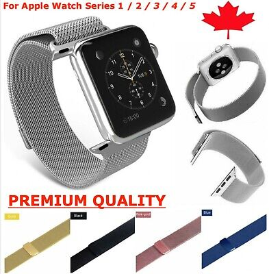$ CDN7.49 • Buy Milanese Stainless Loop Band Magnetic Strap For Apple Watch Series 1 2 3 4 5 6