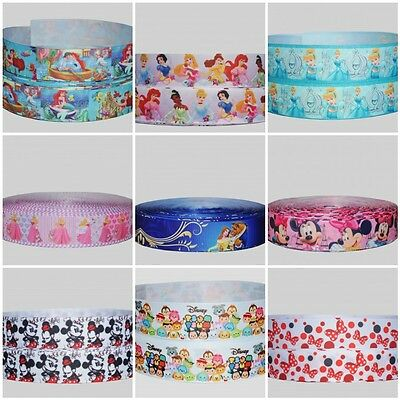 Printed Grosgrain Ribbon 22mm (7/8 ) 25mm (1 ) Wide Cake Lanyard Party Craft • 0.99£