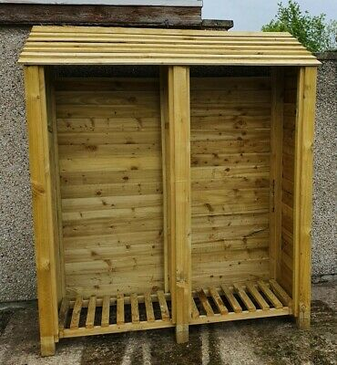 £190 • Buy Extra Large Heavy Duty Log Store In Pressure Treated Timber