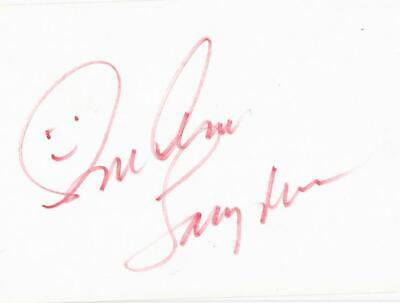 $24.95 • Buy Sue Ane Langdon Signed 3x5 Index Card Movie Actress Autograph