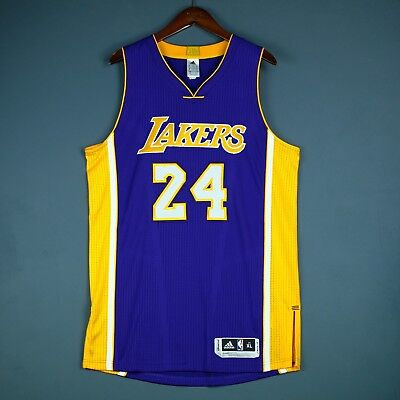 902ef77202a 100% Authentic Kobe Bryant Adidas Lakers Pro Cut Jersey Size XL 48 Mens -  Mesh