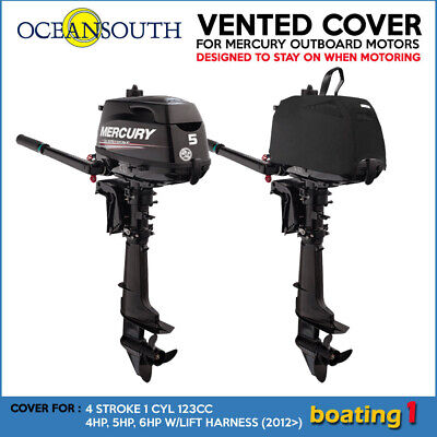 AU77.90 • Buy Mercury Outboard Boat Motor Engine Vented Cover 4 STR 1 CYL 123CC  4HP - 6HP