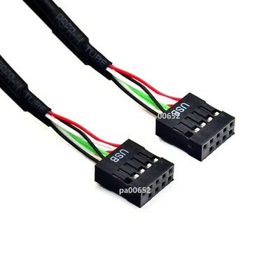 AU8.02 • Buy USB2.0 9pin Female To Female Dupon Cable F/F Extension Cable 60cm