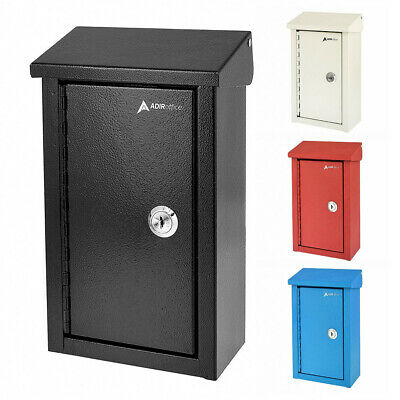 $30.95 • Buy AdirOffice Steel Outdoor Home And Business Large Key Drop Box Storage Mailbox