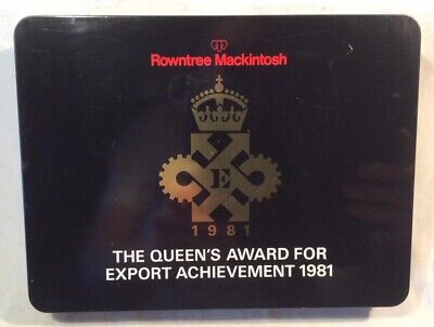 """£3.99 • Buy Collectable Rowntree Mackintosh """"Queens Export Achievement Award 1981"""" Tin"""
