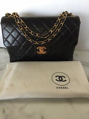 dbe7c011be1ab7 Vintage CHANEL Lambskin Jumbo Single Flap Bag With 24k Gold Plated Hardware  • 2,950.00$