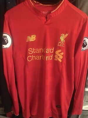 0f36d78d9 FC Liverpool Home Jersey 2016 2017 New Balance S Long Sleeve With Patches •  16.50