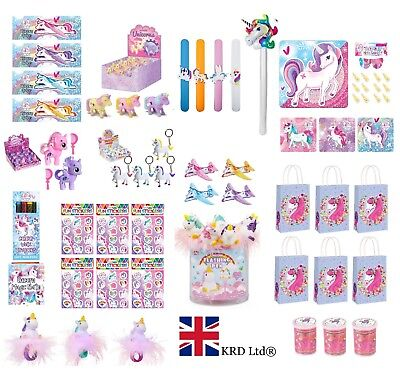 UNICORN PARTY FAVOURS Kids Loot Bag Boxes Filler Toys Decor Games Birthday Gift • 3.39£