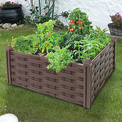 Raised Garden Flower Bed Planter Plant Pot Window Vegetable Herb Box Tray Frame • 12.99£