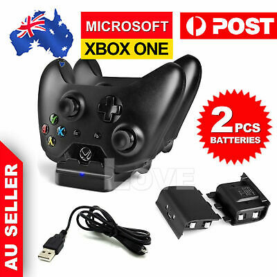 AU17.85 • Buy 2 USB Rechargeable Battery + Dual Controller Charger Dock For Microsoft XBOX ONE
