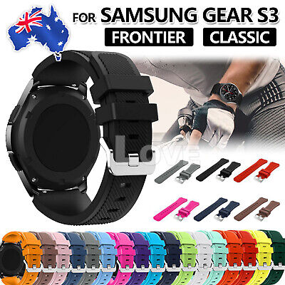 AU4.95 • Buy Sport Premium Silicone Strap Band For Samsung Gear S3 Frontier / Classic 22mm
