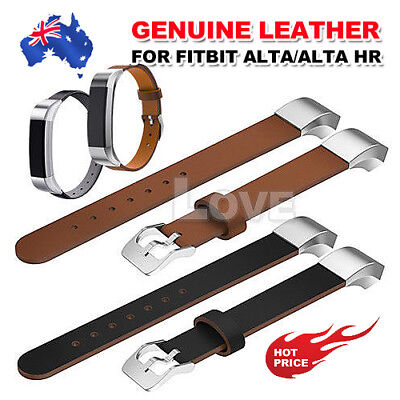 AU10.95 • Buy Genuine Leather Replacement Wrist Watch Bracelet Band Strap For Fitbit Alta HR