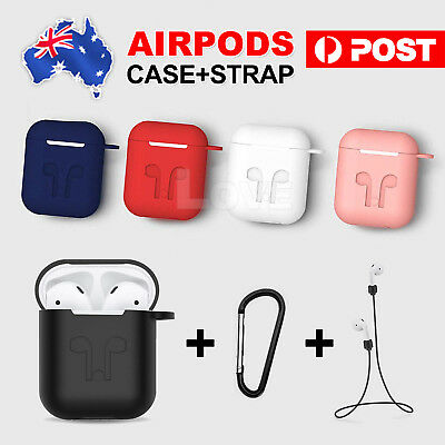 AU5.95 • Buy Strap Holder & Silicone Case Cover Skin For Airpod Accessories Airpods AU